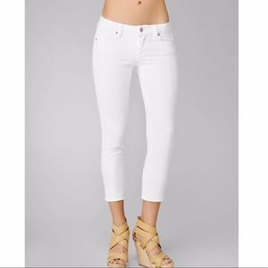 Paige Hollywood Hills white / ivory cropped jeans